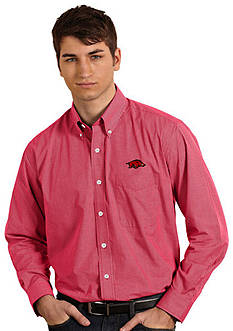 Antigua Arkansas Razorbacks Focus Woven Shirt