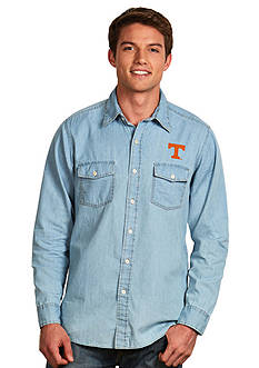 Antigua Tennessee Volunteers Long Sleeve Chambray Shirt
