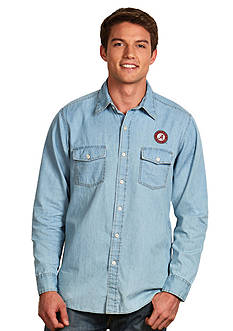 Antigua Alabama Crimson Long Sleeve Chambray Shirt