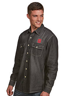 Antigua NC State Wolfpack Long Sleeve Chambray Shirt