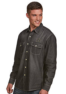 Antigua Vanderbilt Commodores Long Sleeve Chambray Shirt