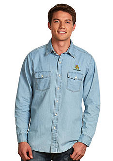 Antigua Baylor Bears Long Sleeve Chambray Shirt