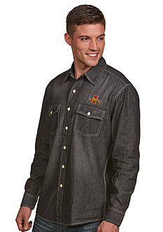 Antigua Iowa State Cyclones Long Sleeve Chambray Shirt