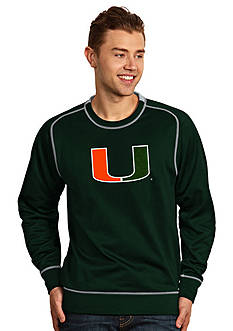 Antigua Miami Hurricanes Applique Men's Volt Pullover