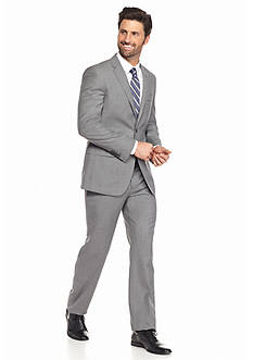 English Laundry™ Two Button Notch Lapel With No Pleat Pants Suit