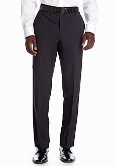 Nicole Miller Slim Fit Navy Stripe Flat Front Suit Separate Pants