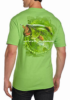 Saddlebred Livin' Large Bass Graphic Tee