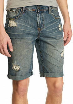 Red Camel Medium Indigo Greaser Denim Shorts