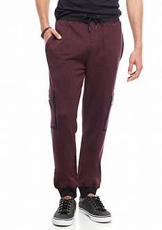 Red Camel Zip Cargo Knit Jogger Pants
