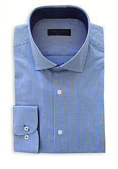 Andrew Fezza Slim-Fit Houndstooth Dress Shirt