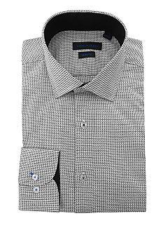 Andrew Fezza Slim Fit Mini Print Dress Shirt Belk