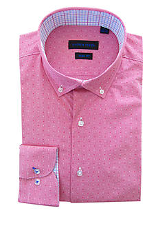 Andrew Fezza Slim Fit Mini Check Dot Dress Shirt