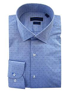 Andrew Fezza Slim Fit Swiss Dotted Dress Shirt