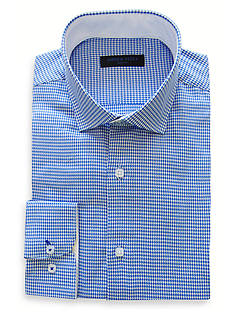 Andrew Fezza Slim-Fit Mini-Check Dress Shirt