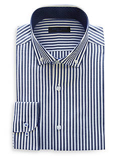 Andrew Fezza Slim-Fit Bold Stripe Dress Shirt
