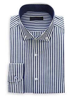 Andrew Fezza Slim-Fit Bold Stripe Dress Shirt