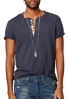 Polo Denim & Supply Flag-Placket Henley T-Shirt