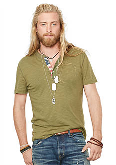 Denim & Supply Ralph Lauren Flag-Placket Henley T-Shirt