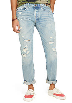 Denim & Supply Ralph Lauren Slim Shredded Granite Jeans