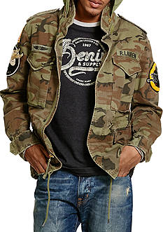 Denim & Supply Ralph Lauren Camo Field Jacket With Patches