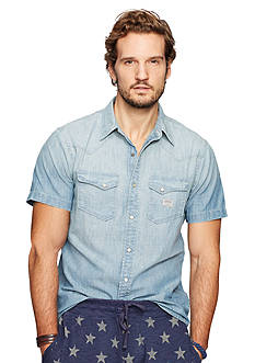 Denim & Supply Ralph Lauren Chambray Western Sport Shirt