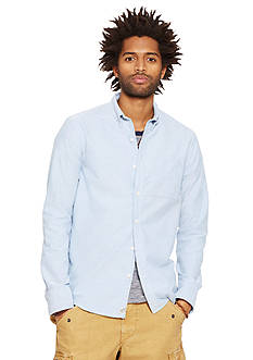 Denim & Supply Ralph Lauren Distressed Oxford Sport Shirt