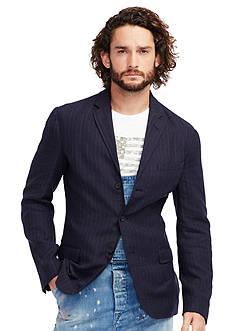Denim & Supply Ralph Lauren Pinstriped Linen-Blend Blazer
