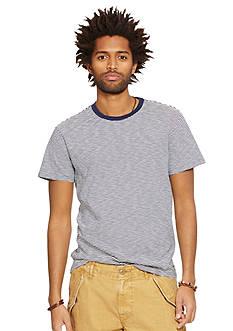 Denim & Supply Ralph Lauren Striped Jersey Crewneck T-Shirt