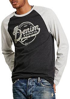 Denim & Supply Ralph Lauren Cotton Jersey Baseball Tee