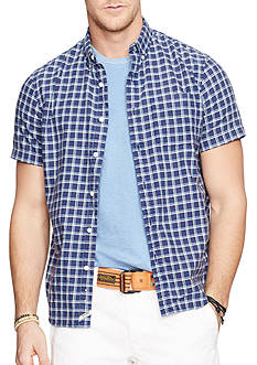 Denim & Supply Ralph Lauren Plaid Cotton Oxford Shirt