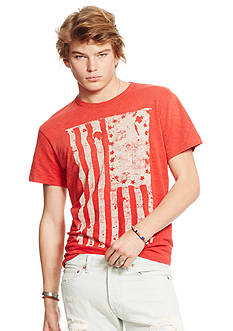 Denim & Supply Ralph Lauren Jersey Flag-Graphic Tee