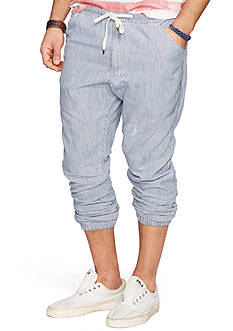 Denim & Supply Ralph Lauren Striped Twill Jogger Pants