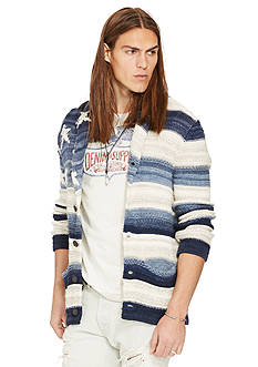 Denim & Supply Ralph Lauren Flag Cotton-Blend Cardigan