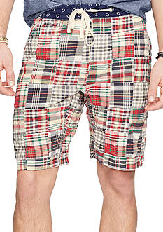 Denim & Supply Ralph Lauren Patchwork Cotton Chino Shorts