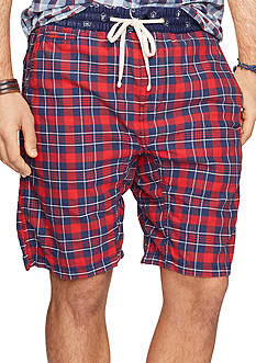 Denim & Supply Ralph Lauren Plaid Cotton Oxford Shorts