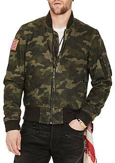 Denim & Supply Ralph Lauren Slim Fit Waxed Bomber Jacket
