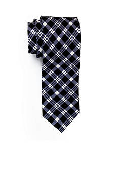Andrew Fezza Black White Plaid Tie