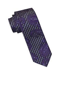 Andrew Fezza Purple Paisley Tie