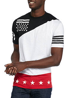 Masterpiece Short Sleeve Flag Diagonal Block T-Shirt