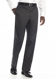 Van Heusen Straight-Fit Solid Flat-Front Suit Separate Pants