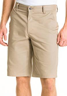 Lee Uniforms Classic-Fit Flat-Front Shorts