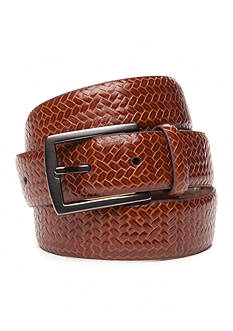 Tommy Bahama Allover Embossed Leather Belt