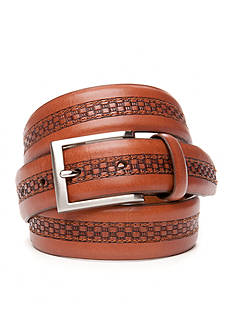 Tommy Bahama Center Inlay Leather Belt