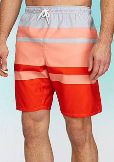 Saddlebred Big & Tall Stripe Swim Trunks