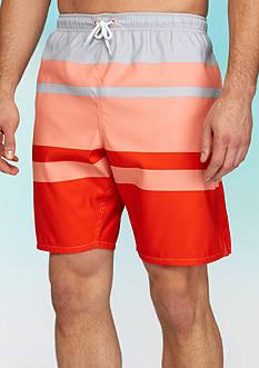 Saddlebred Big & Tall Stripe Swim Trunks
