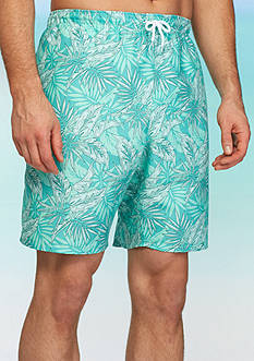 Saddlebred Big & Tall Floral Swim Trunks