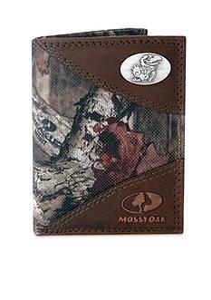 ZEP-PRO Mossy Oak Kansas Jayhawks Tri-fold Wallet