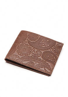 Tallia Orange Paisley Embossed Bifold Wallet
