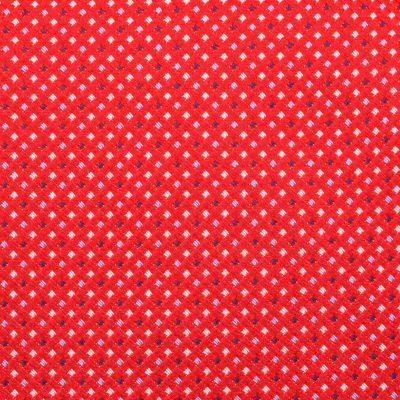 Mens Designer Ties: Red Nautica Marina Dotted Tie
