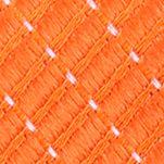 Mens Designer Ties: Orange Nautica Adrift Solid Tie